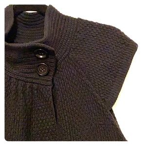 August Silk black textured wrap cardigan sweater
